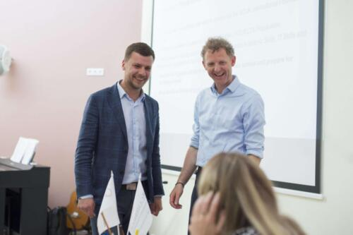 Steve Phillips and Vladimir Naydyuk present Foundation in Ukraine